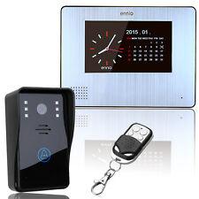 "Ennio 7""LCD Color Video Door Phone Doorbell IR Night Vision Cam 900TVL H1"