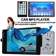 """2 Din 7"""" Car MP3 MP5 Players HD Touch In Dash Stereo Bluetooth FM Radio 7018B WT"""