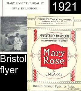 1921 JM Barrie Bristol Prince's Theatre ILLUSTRATED 8-page FLYER