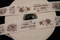 1 Meter Gurt, Zierband, Band aus Baumwolle - bedruckt - 35 mm - beige/braun