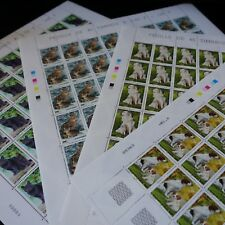 FEUILLE SHEET CHATS ET CHIENS N°3283/3286 x40 1999 NEUF ** MNH