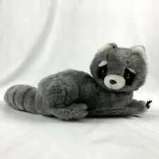 Dakin Raccoon Plush Gray Stuffed Animal Vintage 1975