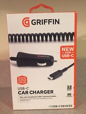 GRIFFIN USB-C CAR CHARGER 3.0 AMP 15 Watt Coiled Cable