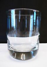 Round Heavy Base Double Old Fashioned GLASSES SET OF 5 Thick Clear Barware