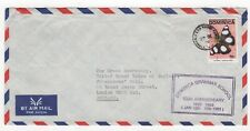 1992 DOMINICA Air Mail Cover ROSEAU to LONDON GB School Anniversary BUTTERFLIES