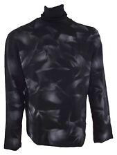 laltramoda maglione lupetto uomo nero lana taglia xxl extra large