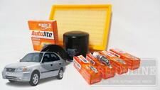 Hyundai Accent LC G4EC G4ED 1.5 1.6 00~06 AIR OIL FUEL FILTER SPARK SERVICE KIT