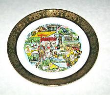 Vintage Tennessee Souvenir Collector Plate Gold Gilt Trim by Sabin