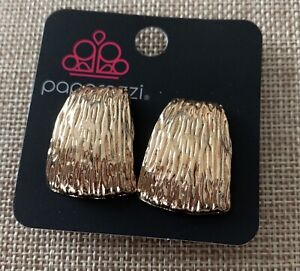 Paparazzi Accessories Superstar Shimmer Gold Clip-On Earrings