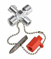KNIPEX 00 11 02 Control Cabinet Key for all standard cabinets and shut-off syste