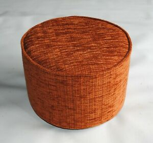 BIAGI Upholstery & Design Round Terracotta Tweed Small Footstool - ON SALE