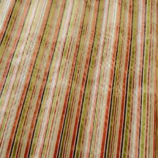 Versari Orange - By iliv Striped Velvet Fabric - Selling per metre off the roll