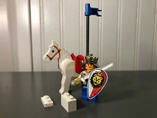 Vintage Lego #6008 Castle Royal Knights King Crown 100% Complete w/ Minifigure