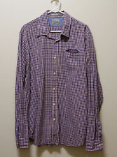 SCOTCH AND SODA LONG SLEEVE CHECK POLO BUTTON DOWN SHIRT, Sz XL