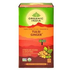 Organic India Tulsi Ginger Green Tea | 25 Tea Bags | Free Shipping | World Wide