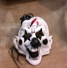 Halloween Evil Creepy Scary Horror Latex Clown Mask EUC
