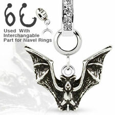 Charm Add-On Fledermaus Gothic Anhänger Bauchnabelpiercing Dermal Anchor