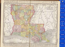 Louisiana, United States - 1895 Color State Map