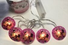 Minnie Mouse String Lights 5 Battery Powered indoor