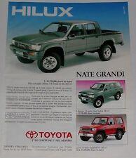 Advert Pubblicità 1991 TOYOTA HILUX - 4 RUNNER - LJ 70
