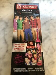 NIB One Direction 1D Colgate MaxFresh Ltd Combo Power Toothbrush Paste Download