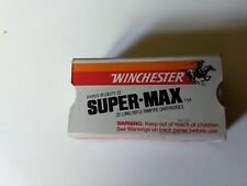 Vintage Winchester Hv Super+Max .22 Long Rifle Cartridge Shell Box (Empty Box *