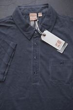 NWT Hugo Boss Orange Men's GR-Perpignan Charcoal Lightweight Cotton Polo Shirt S