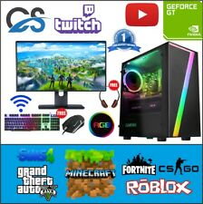 Fast Gaming PC Computer Bundle Intel Quad Core i5 16GB 1TB 2GB GT710 Windows 10