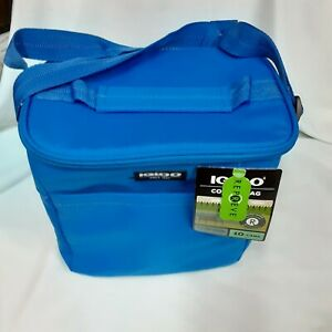"""Igloo 10 Can Blue Insulated  Stay Cool Repreve  Bag  10 """"  X 10""""  X 7"""""""