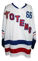 Any Name Number Size Seattle Totems Retro Custom Hockey Jersey 1966 White