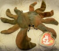 Ty Teenie Beanie Babies Baby Claude Crab McDonald's Kid Meal Beanbag Plush Toy