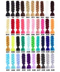"24""  Box Braids Kanekalon Jumbo Braiding Hair Extensions Mega Synthetic Hair AU"