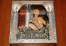 LORD OF THE RINGS TWO TOWERS COLLECTOR'S LTD BOX DVD REGION-2 Gollum Figure NEW