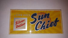 ORIGINAL JENNINGS PLASTIC GLASS SILVER DOLLAR SUN CHIEF TOP MARQUEE original