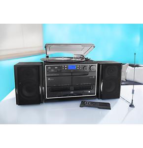 Kompaktanlage Dab+ mit Encoding Funktion Platte Plattenspieler CD RADIO Kassette