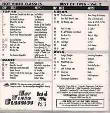Promo only video classics: Best of 1996 vol.2 NO MERCY Grease Megamix LA BOUCHE
