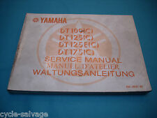 Yamaha DT 100 125 175 1975 Wartungsanleitung Service Manual D'Atelier Handbuch