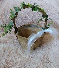 flower girl basket brown bark