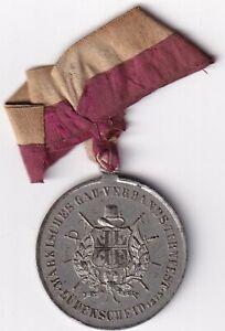 Lüdenscheid Tragbare Zinnmedaille 1873 oder 1875 Turnfest 10,18 g, Ø 33 mm