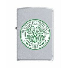 Zippo Celtic FC Official Printed Crest Satin Chrome Windproof Lighter