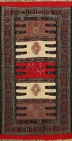Tribal Geometric Sumak Kilim Hand-woven Area Rug Traditional Oriental Carpet 3x6
