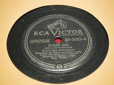 Sonny Boy Williamson 78 RPM RCA Victor 20-2623 Sugar Gal Willow Tree Blues 1948