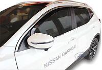 Wind deflectors for Nissan QASHQAI mk2  J11 2014 -2018 4pc set TINTED HEKO