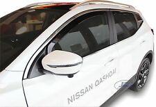 DNI24286 Nissan QASHQAI mk2  J11 2014 -up wind deflectors 4pc set TINTED HEKO