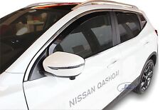 Wind deflectors for Nissan QASHQAI mk2  J11 2014 -2019 4pc set TINTED HEKO