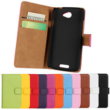 Newest Genuine Leather Wallet Case Perfect Phone Protector Cover For HTC One S