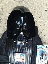 STAR WARS DARTH VADAR COSTUME  JUMPSUIT MASK LIGHT SABRE HALLOWEEN CHILD 5-7 YRS