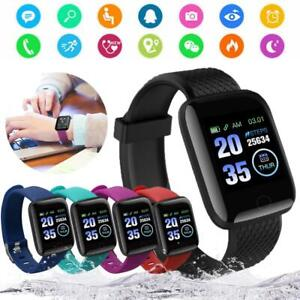 Waterproof Sports Smart Watch Blood Pressure Heart Rate Monitor For Android IOS