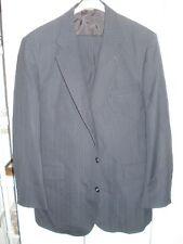 OAKTON, Two Button, Navy Blue Pinstripe Suit, Size 46L, 39x29 Pants, EUC