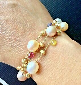 NEW!! Marco Bicego 18k Yellow Gold Paradise 3 Strand Bracelet GORGEOUS 😍🔥🔥